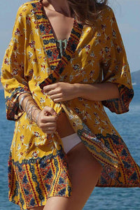 Bohemian Printed Beach Holiday Sunshine Cover Up