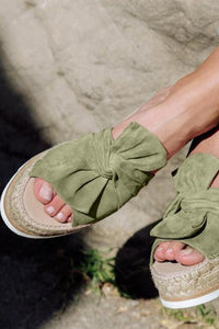 Thick-Bottomed Bow Sandals And Slippers