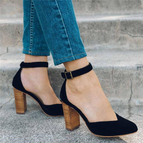 Fashion Pointed Buckle With High Heels