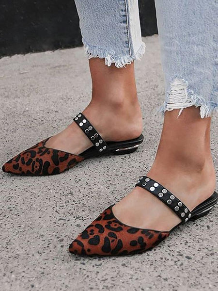 Women's Pointed Flat Sandals And Slippers