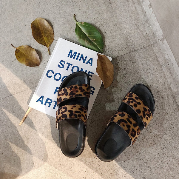 New Leopard Ins Wild Sandals And Slippers