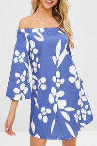 Printed Half Sleeve Shift Dresses