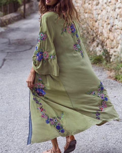 Bohemian Embroidery Blend Cover Ups