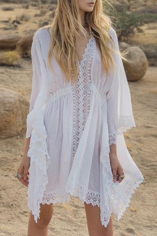 V-Neck Plain Cover Ups