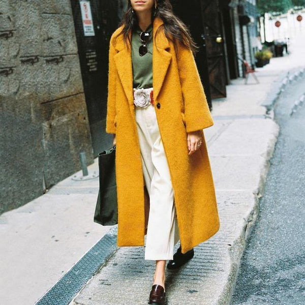 Winter Fashion Lapel Long Coats