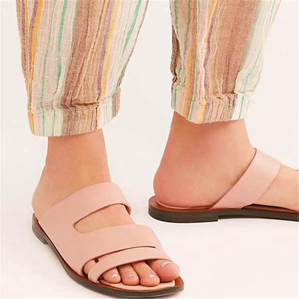 Women PU Slippers Casual Comfort Plus Size Shoes