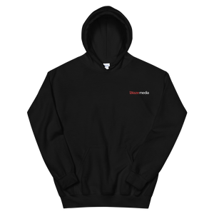 Blaze Media Embroidered Black Hoodie