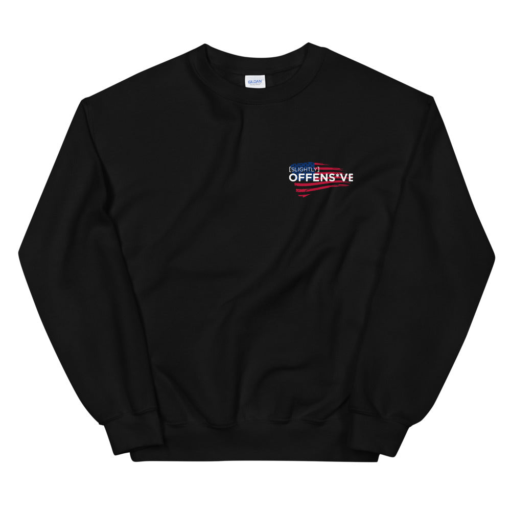 Slightly Offens*ve Flag Crewneck Sweatshirt