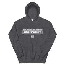 Load image into Gallery viewer, Facts > Opinions Hoodie