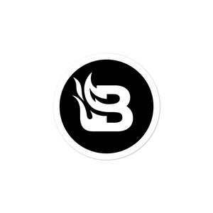 Blaze Media Icon Black Sticker