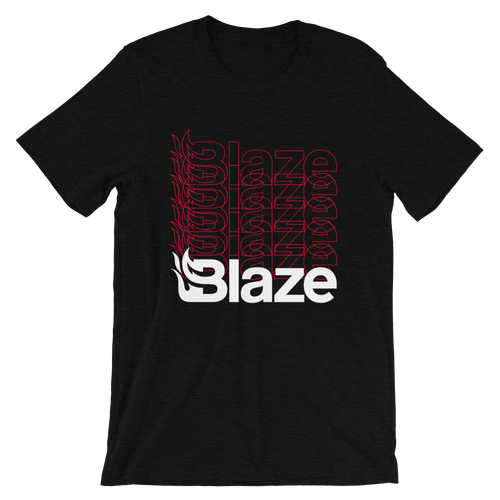 Blaze Repeated Black T-Shirt