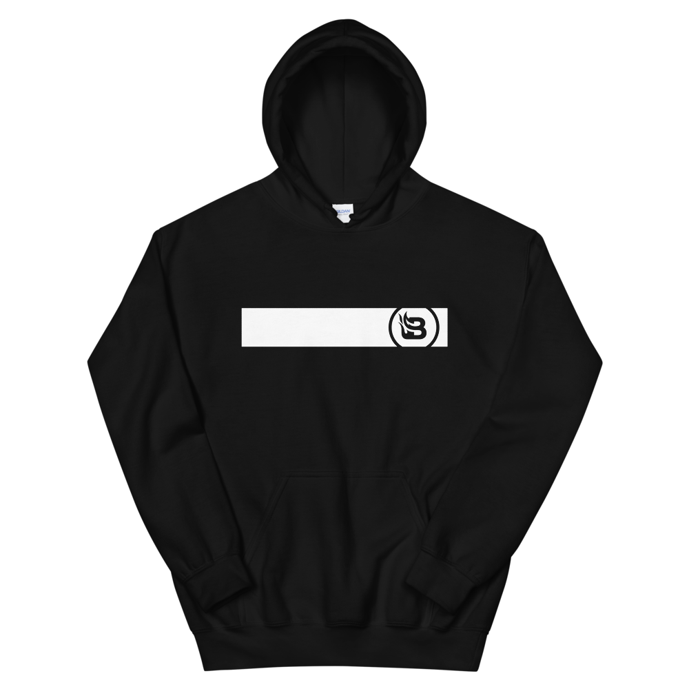 Blaze Media Cropped Logo Black Hoodie