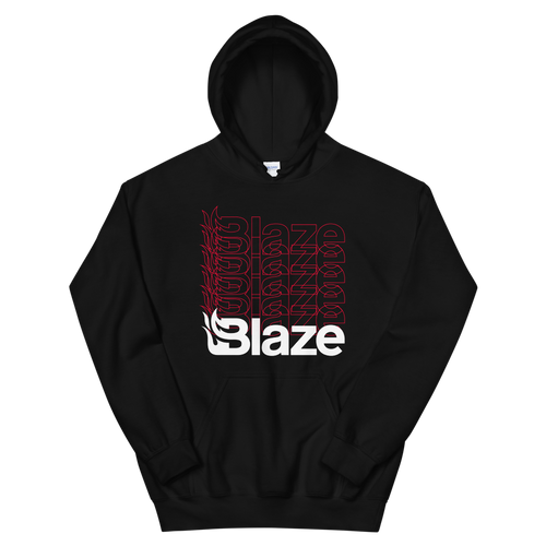 Blaze Repeated Black Hoodie