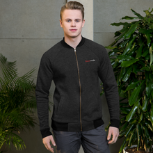 Load image into Gallery viewer, Blaze Media Embroidered Bomber Jacket