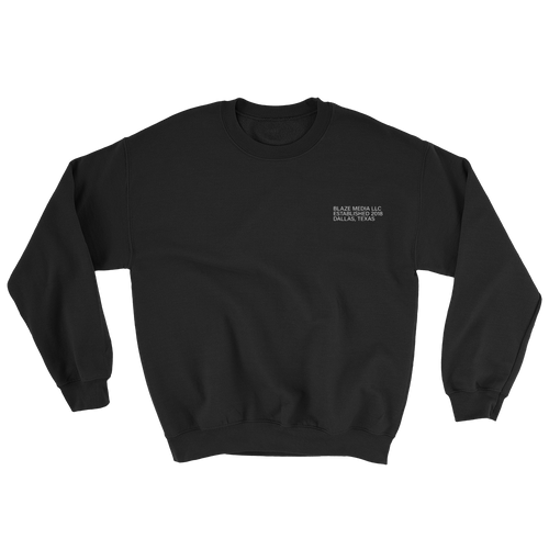 Blaze Media LLC Black Crewneck Sweatshirt