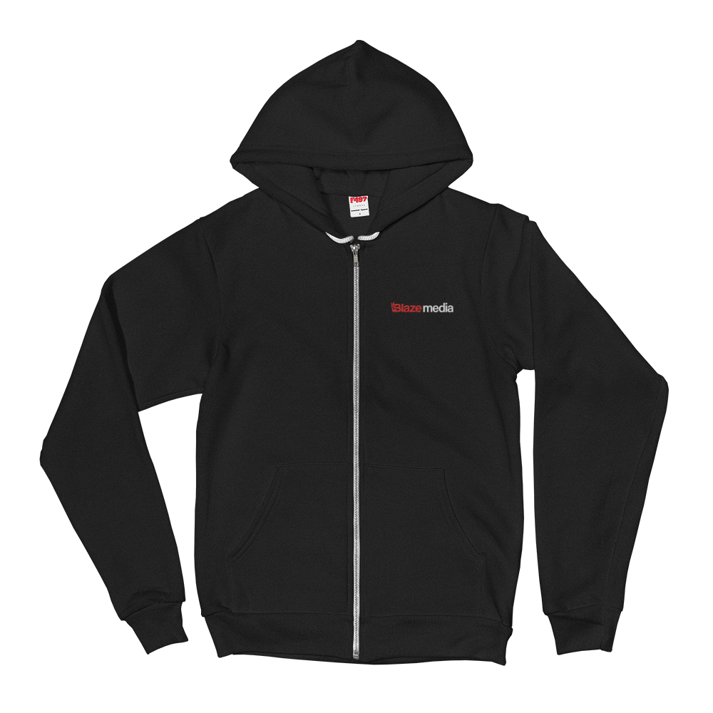 Blaze Media Embroidered Zip Hoodie