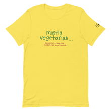Load image into Gallery viewer, Mostly Vegetarian... Pat Gray Unleashed T-Shirt