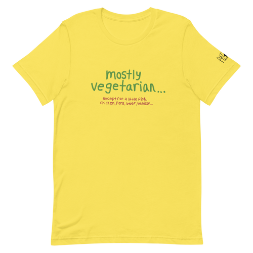 Mostly Vegetarian... Pat Gray Unleashed T-Shirt