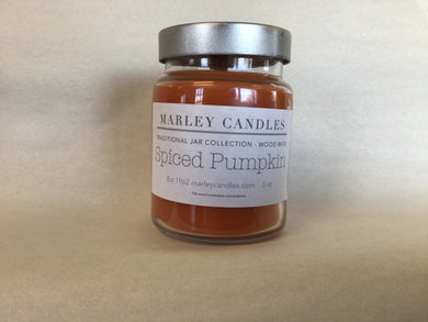 Spiced Pumpkin - 5oz Traditional - Wooden Wick