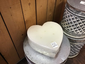 "9""wide x 4""high Heart Candle"