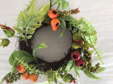 "Load image into Gallery viewer, 6""Candle Ring - Berry & Mixed Foliage"