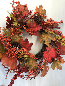 "24"" Wreath - Maple Berry"