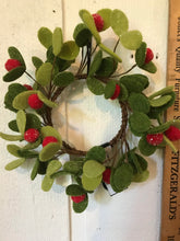 "Load image into Gallery viewer, 3-1/2"" Candle Ring - Icy Mistletoe"