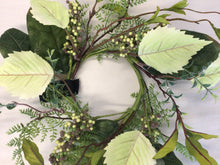 "Load image into Gallery viewer, 4""Candle Ring - Mixed Leaves"