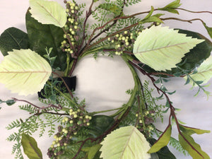 "4""Candle Ring - Mixed Leaves"