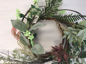 "4""Candle RIng - Succulent Foliage"