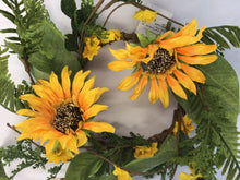"Load image into Gallery viewer, 4""Candle Ring - Sunflower"