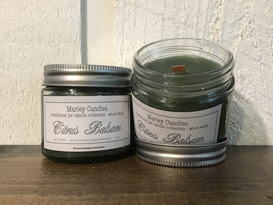 Citrus Balsam - 5oz Traditional - Wooden Wick