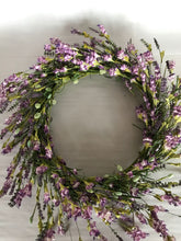 "Load image into Gallery viewer, 22"" Wreath - Lavender Berry"