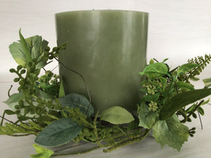 "6""Candle Ring - Foliage Berry"