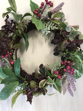 "Load image into Gallery viewer, 20"" Wreath - Foliage, Berry, Lavender"
