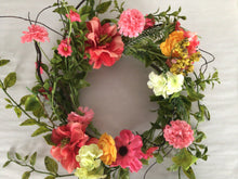 "Load image into Gallery viewer, 6""Candle Ring - Spring Mixed Flowers"