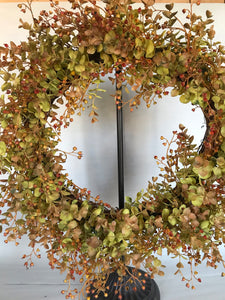"22"" Wreath - Rust Eucalyptus"