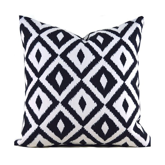 Black Outdoor Pillows ANY SIZE Outdoor Cushions Outdoor Pillow Covers Simple Aztec Decorative Pillows