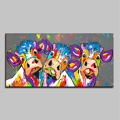 c62088996a Oil Painting Hand Painted - Abstract Pop Art Modern Canvas-Collected Vibe