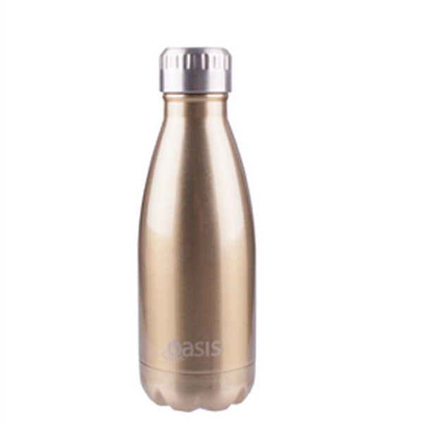 Reusable Double Wall Insulated Drink Bottle 350ml (Champagne)
