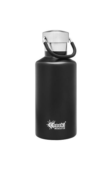 Cheeki Insulated Drink Bottle - 400ml - Matte Black