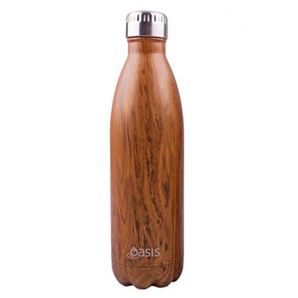 Reusable Double Wall Insulated Drink Bottle 500ml (Teak)
