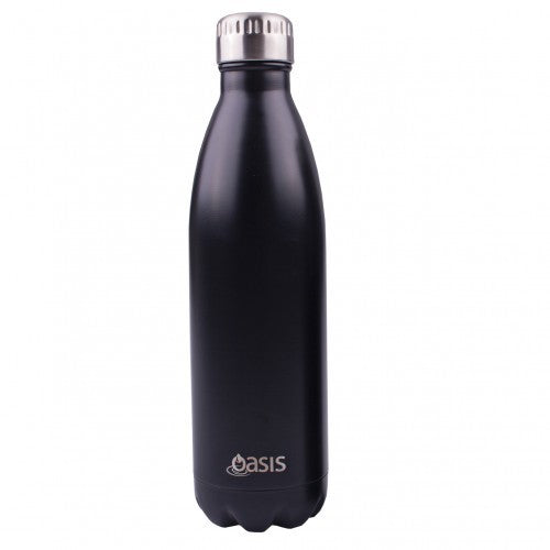 Oasis Double Wall Insulated Drink Bottle - 750ml - Matte Black