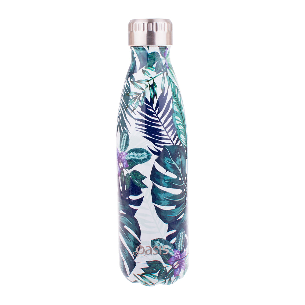 Reusable Double Wall Insulated Drink Bottle 500ml (Tropical Paradise)