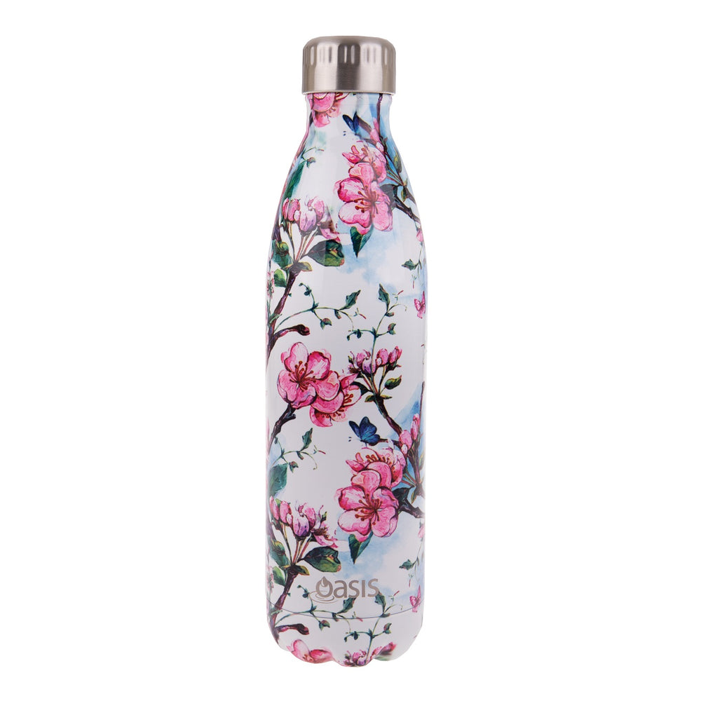 Oasis Double Wall Insulated Drink Bottle - 750ml - Spring Blossom