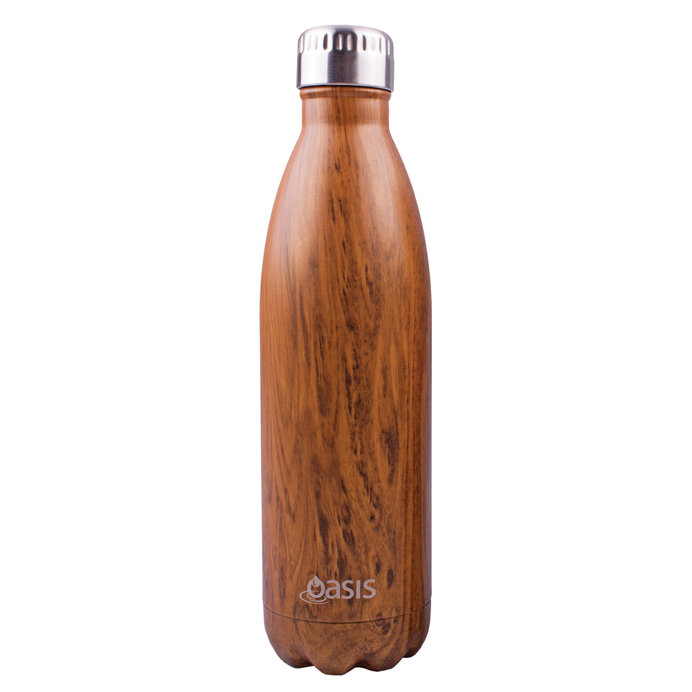 Oasis Double Wall Insulated Drink Bottle - 750ml - Teak