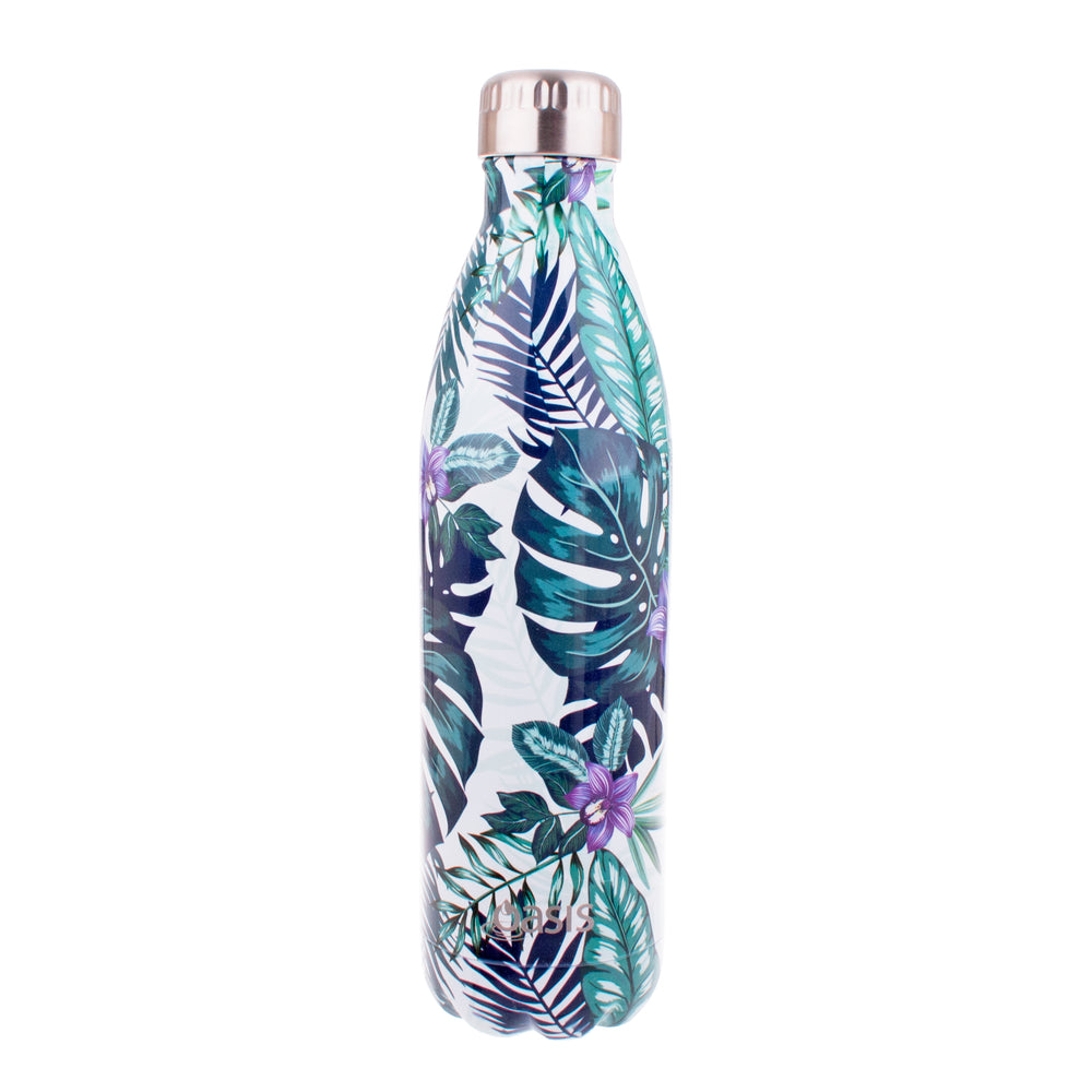 Reusable Double Wall Insulated Drink Bottle 750ml (Tropical Paradise)