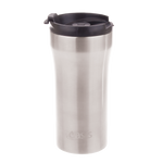 Reusable Vacuum Insulated Plunger Travel Cup 350ml (Silver)