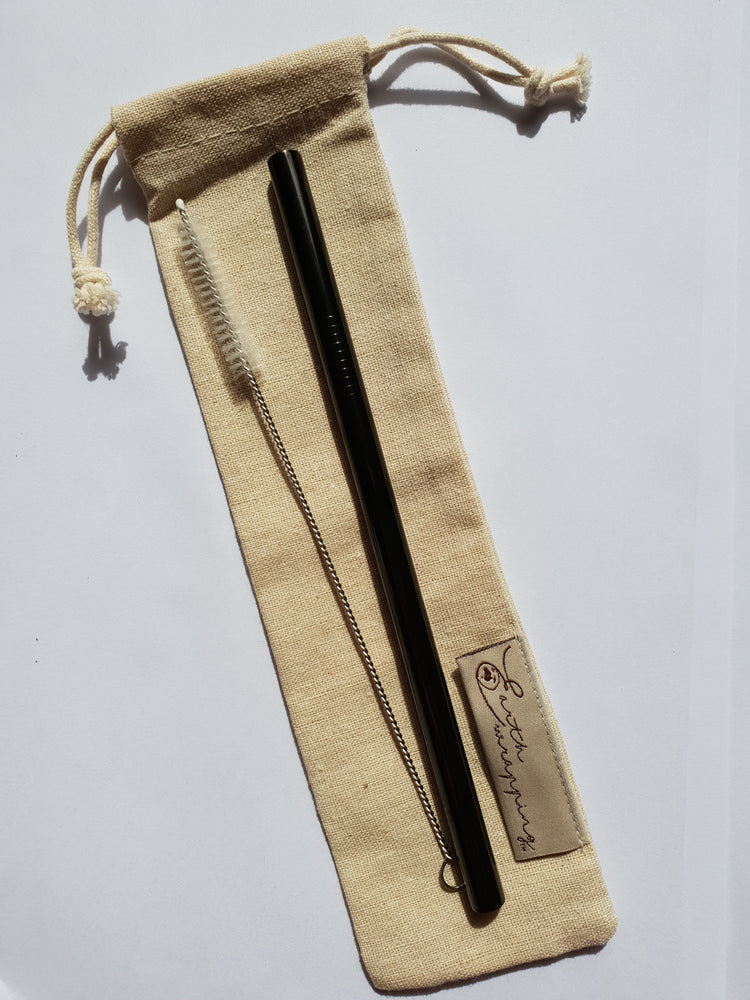 Earth Wrapping Straw Carry Pouch