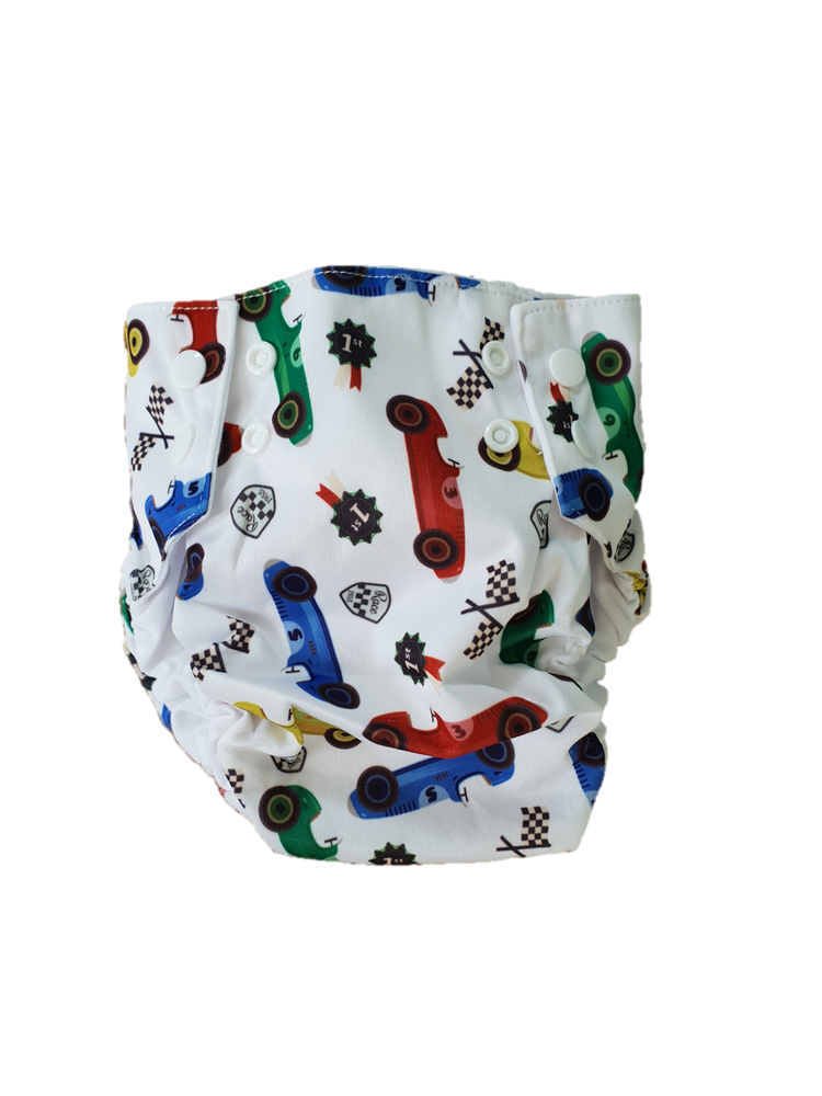 Bonnibuns Racing Cars Swim Nappy
